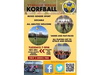 Ready to try a new sport? Join Tyneside Titans Korfball Club!
