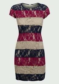 Paco Boutique ladies Colour Block lace Dress