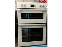 p340 white beko double integrated electric oven comes with warranty can be delivered or collected
