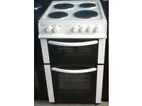 o149 white bush 50cm solid ring electric cooker comes with warranty can be delivered or collected