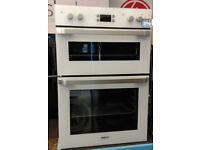 m340 white beko double integrated electric oven comes with warranty can be delivered or collected