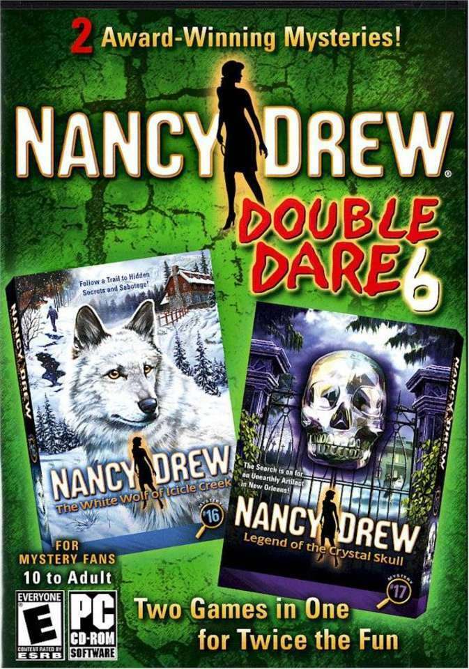 Computer Games - Nancy Drew Double Dare 6 PC Games Windows 10 8 7 XP Computer two pack