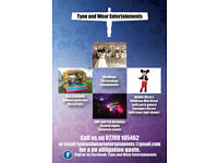 Tyne And Wear Entertainments - Wedding DJ, Party DJ, KIds Entertainer, Bouncy Castles, Candy Carts