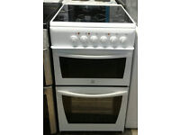 a542 white indesit 50cm ceramic hob electric cooker comes with warranty can be delivered