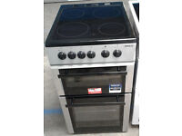 a157 silver beko 50cm ceramic electric cooker comes with warranty can be delivered or collected