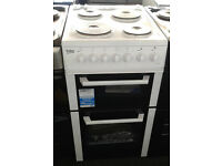 a204 white beko 50cm solid ring double oven electric cooker new graded with 12 month warranty