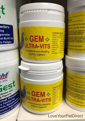 GEM  Pigeon Vitamins Supplement Pigeons and Birds Vitamins Ultravits 100g  BMFD