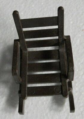 Vintage Dollhouse Furniture Mini Ladder Back Rocking Chair Doll Rocker 1980s  - $2.99