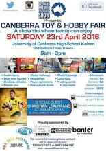 Canberra Toy and Hobby Fair This Saturday 23rd April 9am City North Canberra Preview