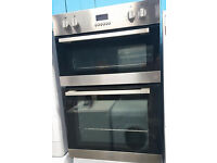 g218 silver & black double oven integrated comes with warranty can be delivered or collected