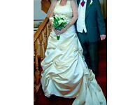 Bespoke Champagne Wedding Dress