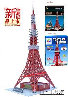 3D paper puzzle building model toy Japan famous tokyo tower great architecture
