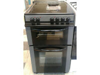 c676 graphite bush 50cm ceramic hob electric cooker comes with warranty can be delivered