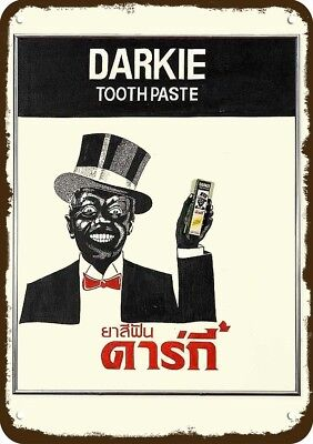 DARKIE TOOTHPASTE Black Americana Vintage-Look Replica Metal Sign