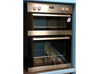 Y218 stainless steel lamona double integrated electric oven comes with warranty can be delivered