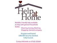 Help at Home, Reliable friendly lady to help with general household duties, Cleaning, Ironing etc