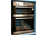 Z218 stainless steel lamona double integrated electric oven comes with warranty can be delivered