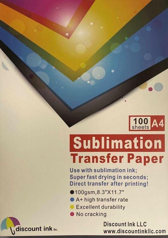 100Pcs A4 Sublimation Iron On Heat Transfer Paper for Inkjet T-Shirt Printer Mug