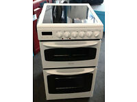 b435 white electra 50cm double oven ceramic hob electric cooker comes with warranty can be delivered