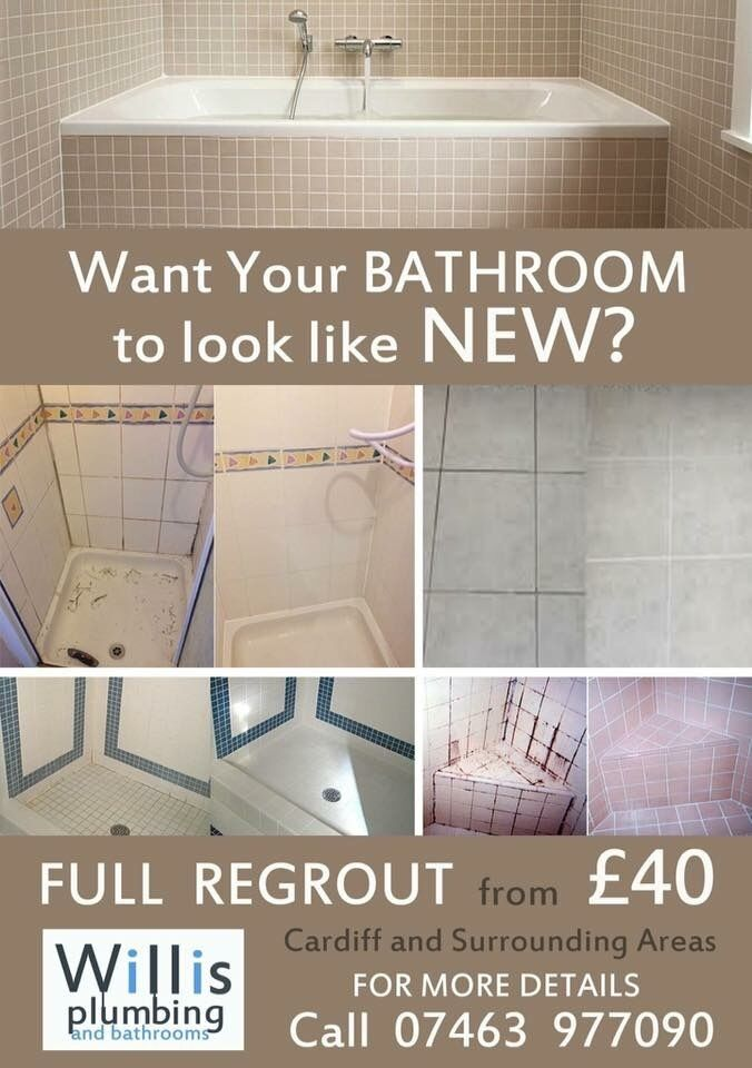 Bathroom Regrout From £40. Shower, Floor Tiles And Wall Tiles. Call For