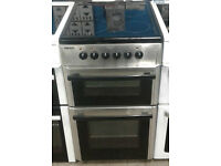 D150 stainless steel beko 50cm double oven ceramic hob electric cooker comes with warranty