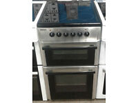 o150 stainless steel beko 50cm double oven ceramic hob electric cooker comes with warranty