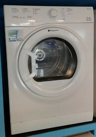 I323 white hotpoint 7kg B rated vented dryer comes with warranty can be delivered or collected