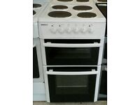 h368 white beko 50cm solid ring electric cooker comes with warranty can be delivered or collected
