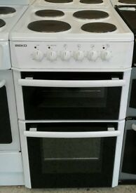 I368 white beko 50cm solid ring electric cooker with warranty can be delivered or collected