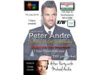 evening with peter andre southampton