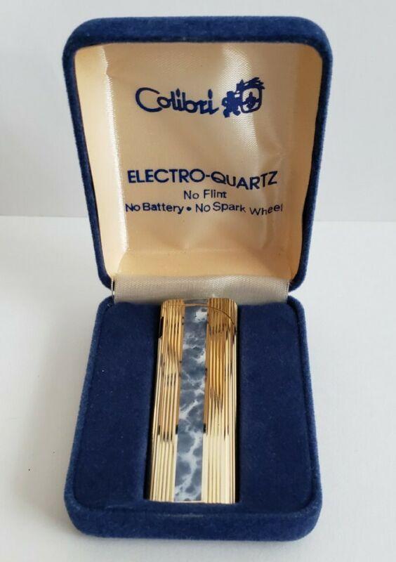 Colibri Electro Quartz Lighter - No Flint - No Battery - No Spark Wheel - Japan
