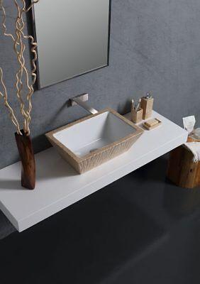 Rechtekig Aufsatzbecken/wandhängend waschbecken Travertino Venato 60x40xH20 cm