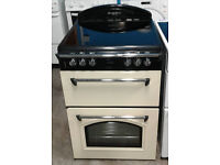 b203 cream leisure 60cm double electric cooker comes with warranty can be delivered or collected