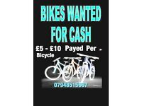 ⭐️WANTED UNWANTED ⭐️Adult Bicycles I will pick them up