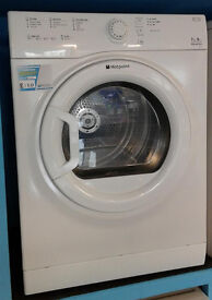 F323 white hotpoint 7kg B rated vented dryer comes with warranty can be delivered or collected