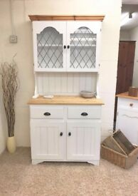 Solid Pine Dresser With Leaded Glass *** £199 ***