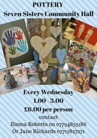 POTTERY AT SEVEN SISTERS COMMUNITY CENTRE