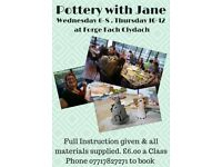 POTTERY CLASSES AT FORGE FACH, CLYDACH, SWANSEA