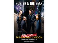 3x Hunter & the Bear tickets at The Garage, London on 2nd March