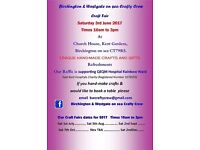 Birchington & Westgate-on-sea Crafty Crew Craft Fair. Free admission and parking. Refreshments