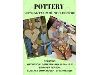 POTTERY SESSIONS AT CRYNANT COMMUNITY CENTRE