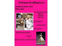 Everything you need for your special day all under 1 roof. 23/10/16 10-2pm, wickham centre,