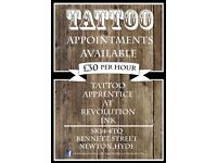 Tattoo Appointments Available