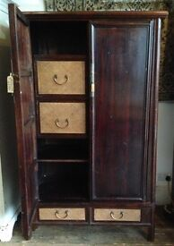 Chinese Elm Marriage Cabinet