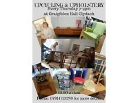 UPCYCLING & UPHOLSTERY CLASSES AT GRAIGFELEN COMMUNITY CENTRE