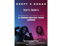 4x Krept and Konan tickets for SALE