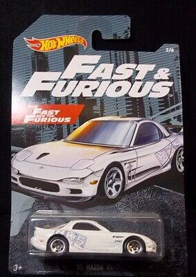 Hot Wheels Fast & Furious White '95 Mazda RX-7 2/6 NEW