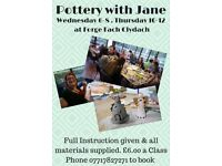 POTTERY SESSIONS/CLASSES AT FORGE FACH CLYDACH