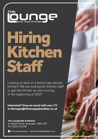 Kitchen Chef for new City Center Bar and Kitchen