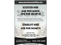 Mobility Scooter Hire, £99 a month. Powerchair and Wheelchair Hire